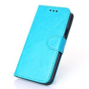 Wallet pouzdro na mobil Samsung Galaxy A3 (2016) - modré - 1