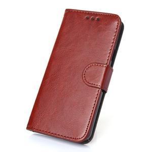 Wallet pouzdro na mobil Samsung Galaxy A3 (2016) - hnědé - 1