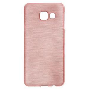 Gelový obal s motivem broušení na Samsung Galaxy A3 (2016) - růžový - 1