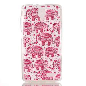 Gelový obal na mobil Lenovo A536 - růžoví sloni - 1