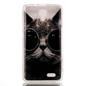 Gelový obal na mobil Lenovo A536 - kočka mafián - 1