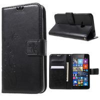 Butterfly peněženkové pouzdro na Microsoft Lumia 535 - černé - 1/7
