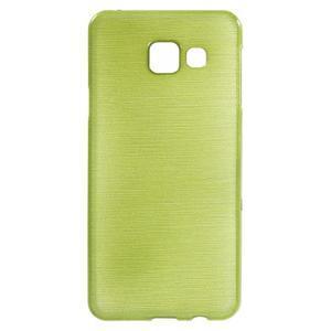 Gelový obal s motivem broušení na Samsung Galaxy A3 (2016) - zelený - 1