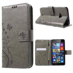 Butterfly peněženkové pouzdro na Microsoft Lumia 535 - šedé - 1