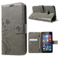 Butterfly peněženkové pouzdro na Microsoft Lumia 535 - šedé - 1/7
