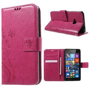 Butterfly peněženkové pouzdro na Microsoft Lumia 535 - rose - 1