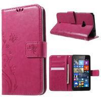 Butterfly peněženkové pouzdro na Microsoft Lumia 535 - rose - 1/7