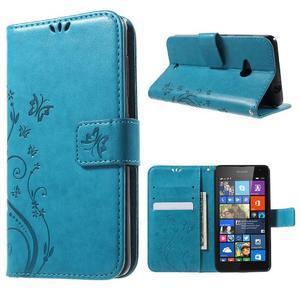 Butterfly peněženkové pouzdro na Microsoft Lumia 535 - modré - 1