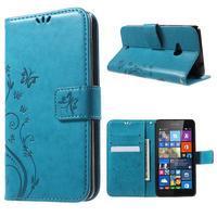 Butterfly peněženkové pouzdro na Microsoft Lumia 535 - modré - 1/7