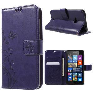 Butterfly peněženkové pouzdro na Microsoft Lumia 535 - fialové - 1