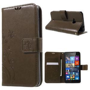 Butterfly peněženkové pouzdro na Microsoft Lumia 535 - coffee - 1