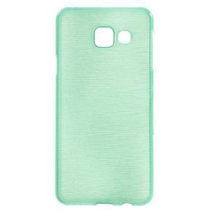Gelový obal s motivem broušení na Samsung Galaxy A3 (2016) - azurový - 1