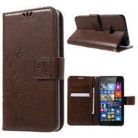 Butterfly peněženkové pouzdro na Microsoft Lumia 535 - hnědé - 1/7