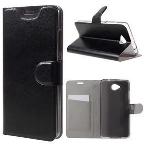 Horse peněženkové pouzdro na mobil Microsoft Lumia 650 - černé - 1