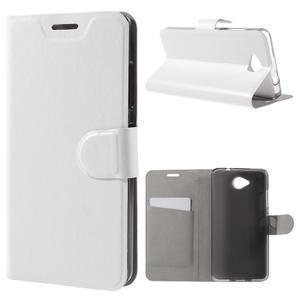 Horse peněženkové pouzdro na mobil Microsoft Lumia 650 - bílé - 1