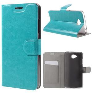 Horse peněženkové pouzdro na mobil Microsoft Lumia 650 - modré - 1