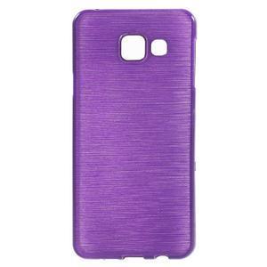 Gelový obal s motivem broušení na Samsung Galaxy A3 (2016) - fialový - 1