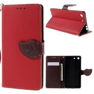 Blade peněženkové pouzdro na Sony Xperia M5 - červené - 1