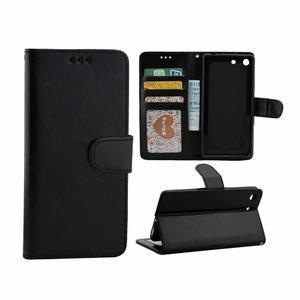 Horse PU kožené pouzdro na Sony Xperia M5 - černé - 1