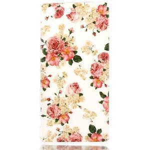 Style gelový obal pro Sony Xperia M5 - květinová koláž - 1