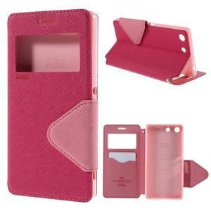 Diary pouzdro s okýnkem na Sony Xperia M5 - rose - 1