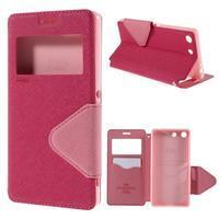 Diary pouzdro s okýnkem na Sony Xperia M5 - rose - 1/7