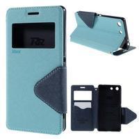 Diary pouzdro s okýnkem na Sony Xperia M5 - světlemodré - 1/7