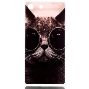 Style gelový obal pro Sony Xperia M5 - kocour - 1