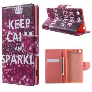 Stand peněženkové pouzdro na Sony Xperia M5 - Keep Calm - 1