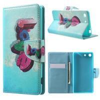 Stand peněženkové pouzdro na Sony Xperia M5 - love - 1/7