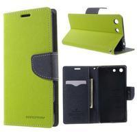 Goos PU kožené penženkové pouzdro na Sony Xperia M5 - zelené - 1/7