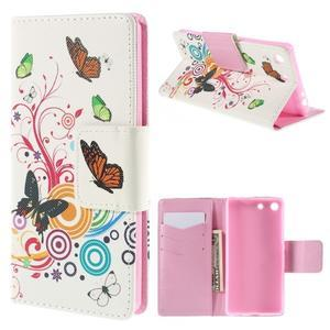 Crafty peněženkové pouzdro na Sony Xperia M5 - motýlci - 1