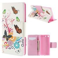 Crafty peněženkové pouzdro na Sony Xperia M5 - motýlci - 1/7