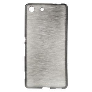Brush gelový obal pro Sony Xperia M5 - šedý - 1