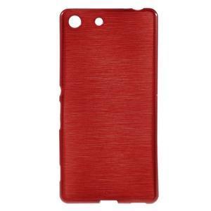 Brush gelový obal pro Sony Xperia M5 - červený - 1