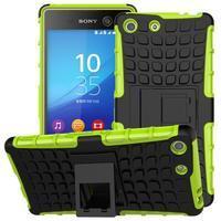 Outdoor odolný kryt na mobil Sony Xperia M5 - zelený - 1/2