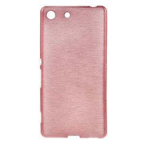 Brush gelový obal pro Sony Xperia M5 - růžový - 1