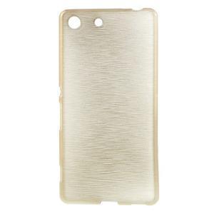 Brush gelový obal pro Sony Xperia M5 - champagne - 1