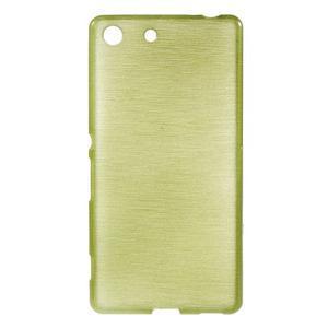 Brush gelový obal pro Sony Xperia M5 - zelený - 1