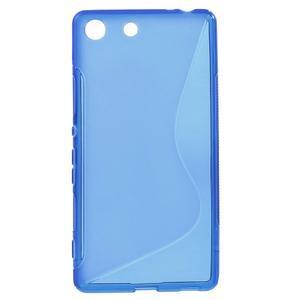 S-line gelový obal na mobil Sony Xperia M5 - modré - 1