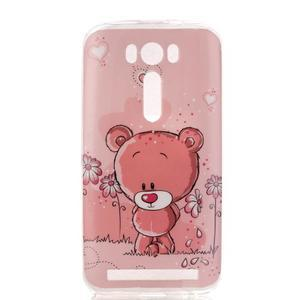Softy gelový obal na mobil Asus Zenfone 2 Laser - medvídek - 1