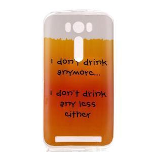 Softy gelový obal na mobil Asus Zenfone 2 Laser - drink - 1