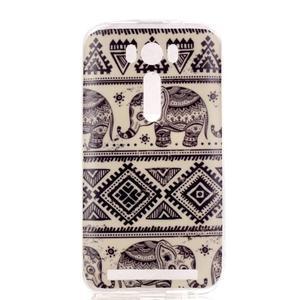Softy gelový obal na mobil Asus Zenfone 2 Laser - sloni - 1