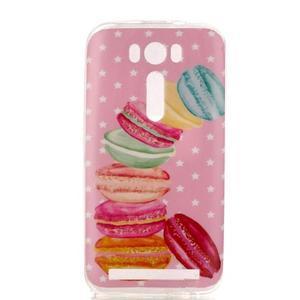 Softy gelový obal na mobil Asus Zenfone 2 Laser - makrónky - 1