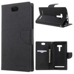 Mr. Goos peněženkové pouzdro na Asus Zenfone Selfie ZD551KL - černé - 1
