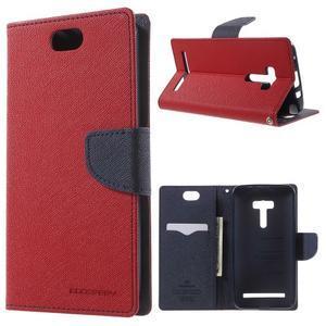Mr. Goos peněženkové pouzdro na Asus Zenfone Selfie ZD551KL - červené - 1
