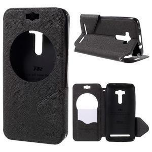 Peněženkové pouzdro s okýnkem na Asus Zenfone Selfie ZD551KL - černé - 1