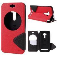 Peněženkové pouzdro s okýnkem na Asus Zenfone Selfie ZD551KL - červené - 1/7