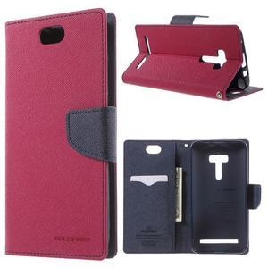 Mr. Goos peněženkové pouzdro na Asus Zenfone Selfie ZD551KL - rose - 1
