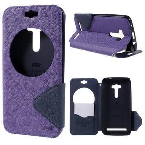Peněženkové pouzdro s okýnkem na Asus Zenfone Selfie ZD551KL - fialové - 1